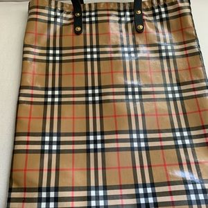 SOLD OUT AUTHENTIC Burberry Coated Large Tote Bag